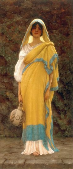 Going to the Well of artist John William Godward as framed image John William Godward, William Waterhouse, Lawrence Alma Tadema, Pre Raphaelite Paintings, Art Through The Ages, Painting People, Classical Art, Ancient Rome, Art Reproductions