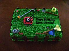 Lawn Mower Cake cakepins.com