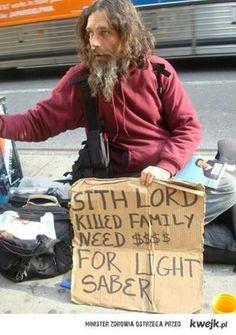 Homeless in star wars Funny Homeless Signs, Homeless People, Funny Signs, Funny Stories, True Stories, Jar Jar Binks, Star Wars, Sith Lord, Smosh
