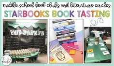 Starbooks Book Tasting in Middle School ELA for Book Clubs and Literature Circles - The Hungry Teacher Middle School Literature, Middle School Reading, Literature Circles, Teaching Poetry, Teaching Literature, Teaching Themes, Book Club Books, Book Clubs, Book Tasting