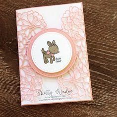 Sweet baby ❤️ #stampinup #pinkisforgirls #handmade #stamping #rubberstamps #cards