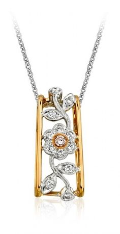 Simon G Pink & White Gold Necklace with Diamonds. From #AAJewelBox #AAJB