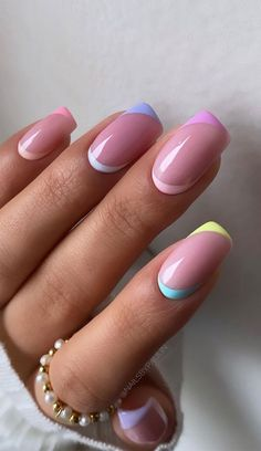 Pastel Color Nails, Nail Colors, Pretty Nail Art, Cute Nail Art, Queen Nails, Cute Spring Nails, Luxury Nails, Best Acrylic Nails, Dope Nails
