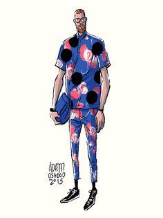 Adam Osgood Menswewar Fashion Illustration Gif