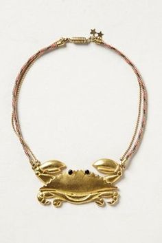 freshwater crab pendant by Circo.