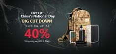 Oct China's National Day, Big Cut Down from Gearbest China National Day, Oct 1, Off Sale, Vape, Activities, Big, Smoke, Electronic Cigarette, Electronic Cigarettes