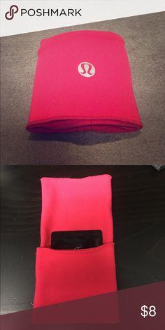 Lululemon wrist key/card holder Lululemon fold over wrist cuff to stash key/card. Used once. Like new! Machine washable. Salmon/pink color lululemon athletica Accessories