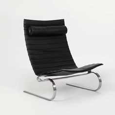 Fritz Hansen — Pk20 Lounge Chair Black Leather — THE LINE