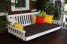 A&L Furniture Traditional English Pine Swing Bed 451 452 453 - Magnolia Porch Swings  - 1