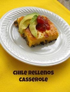Chile Rellenos Casserle http://frugalanticsrecipes.com #eggs #cheese