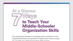 Your middle school child may need some help learning organizational skills. Here are some simple ways to teach organization and prioritizing. Learn more about teaching organization at Understood.org