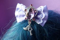 Purple Gem Sailor Moon Bow Hair Clip
