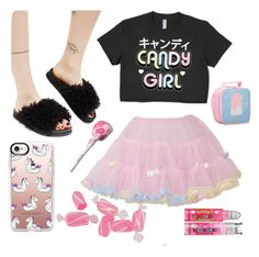 """""""Candy Girl"""" by oceanforthestars ❤ liked on Polyvore featuring Bodyline, Cape Robbin, Casetify, Vie Active and Bonne Bell"""
