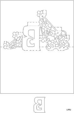 Kirigami - Livro de Letras - liru_origami - Picasa Web Albums Paper Pop, Paper Lace, Diy Paper, Kirigami Patterns, Card Patterns, 3d Cards, Pop Up Cards, Stencils, Pop Up Card Templates