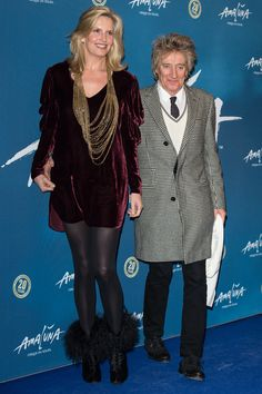 Penny Lancaster and Rod Stewart. Look at the height difference on this couple!