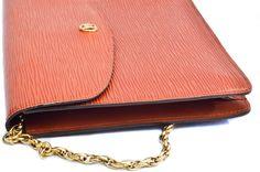 Louis Vuitton Brown Epi Montaigne Shoulder Bag Clutch