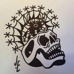 Veneno Skull, Tattoos, Drawings, Tatuajes, Tattoo, Cuff Tattoo, Skulls, Flesh Tattoo