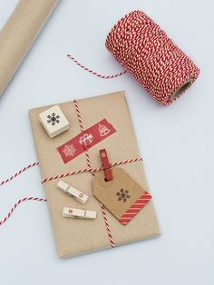 Christmas gift wrapping set #gift #wrapping #red