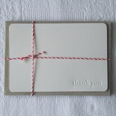 letterpress debossed thank you notecards pk of 20 by rubyvictoria,