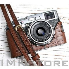 Ciesta Vegetable Leather Half Case Strap Lens Cap for Fuji X100S Camera Cro | eBay