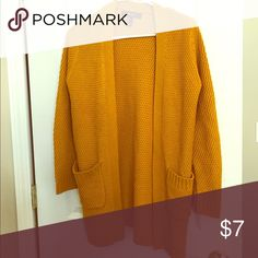Yellow cardigan size small Yellow forever 21 cardigan size small . Forever 21 Sweaters Cardigans