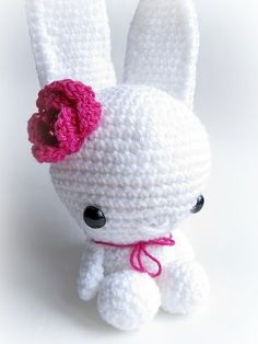 {White Amigurumi Bunny} - Little Things Blogged