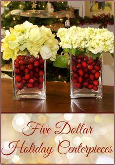 Elegant Cranberry and Hydrangea Christmas Centerpiece