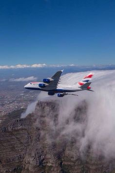 British Airways Airbus G-XLED banking over Table Mountain, near Cape Town, during a promotional photo shoot on February The aircraft had only been delivered the previous month. Commercial Plane, Commercial Aircraft, International Civil Aviation Organization, Airplane Photography, Passenger Aircraft, Cargo Airlines, Airbus A380, British Airways, Jet Plane
