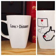 Wedding Gifts For Couples Moving Abroad : ... Mugs on Pinterest State Outline, Friend Mugs and Going Away Gifts