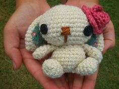 Lulu the Amigurumi Bunny by WyandotteWears on Etsy, $5.00