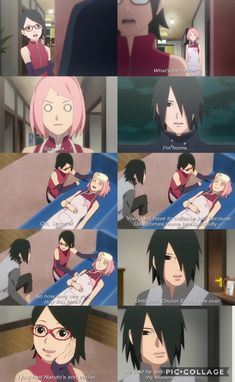 Sasuke comes home ❤️ Sakura faints and Sarada is happily shocked ❤️ Uchiha Family Moment on Episode 54 ❤️ Naruto Uzumaki, Anime Naruto, Sasuke Uchiha Sakura Haruno, Naruto Fan Art, Naruto Cute, Naruto And Sasuke, Hinata, Otaku Anime, Naruhina