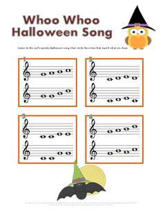 24 best halloween music worksheets images on ed