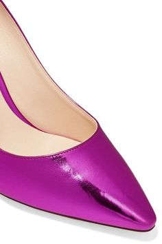 Jimmy Choo - Romy Mirrored-leather Pumps - Magenta - IT39.5