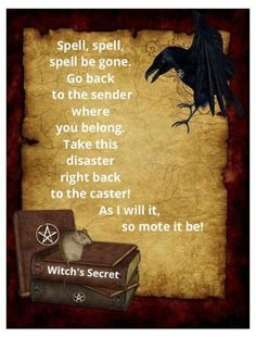 Spell Be Gone - Pinned by The Mystic's Emporium on Etsy