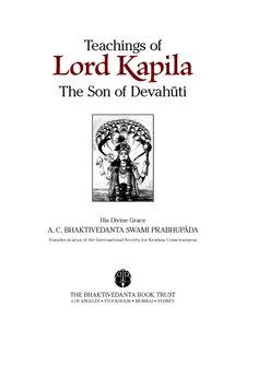 Teachings of Lord Kapila Title - Sample