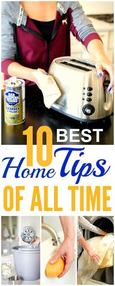 These 10 best home hacks of all time are SO GOOD! I'm so glad I found these AWESOME tips! Now I have some great ideas for cleaning and organizing. Definitely pinning for later!
