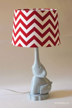 Nursery: DIY Elephant lamp project