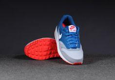 Nike Air Max 1 GS – Military Blue / White-Laser Crimson-Wolf Grey