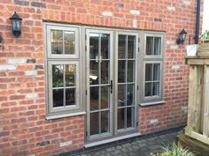 Avonbridge installed these Residence Silvered Oak, French Doors Installing French Doors, Sliding French Doors, French Doors Patio, Patio Doors, Front Doors With Windows, Back Doors, Cedar Cladding, Doors And Floors, Cottage Renovation