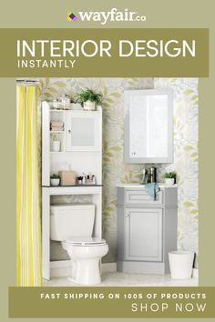 Get inspired by Traditional Bathroom Design photo by Wayfair Catalog. Wayfair lets you find the designer products in the photo and get ideas from thousands of other Traditional Bathroom Design photos. Over The Toilet Cabinet, Bathroom Storage Over Toilet, Toilet Storage, Wood Bathroom, Bathroom Furniture, Master Bathroom, Bathroom Ideas, Bathroom Mirrors, Bathroom Cabinets