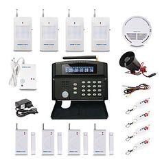 GSM  Wireless Home Security System + Alarm Auto-Dial + 24 Wireless Zone – USD $ 149.99