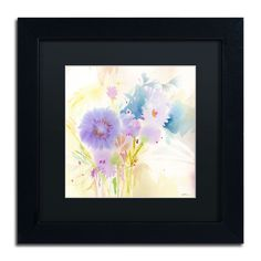 'Mixed Blue Bouquet' by Sheila Golden Framed Painting Print