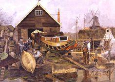 Op de scheepstimmerwerf,Cornelis Jetses