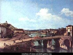 Turin viewed from the north-east to the ancient bridge over the Po - (Giovanni Antonio Canal) Canaletto - www.canalettogallery.org
