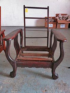 Dark All Original Antique Morris Reclning Chair W/ Claw Feet To Refinish & US $350.00. Vintage Morris Chair in Antiques Furniture Chairs ... islam-shia.org