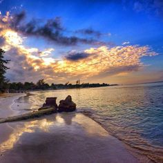 The sun sets over beautiful #Jamaica.