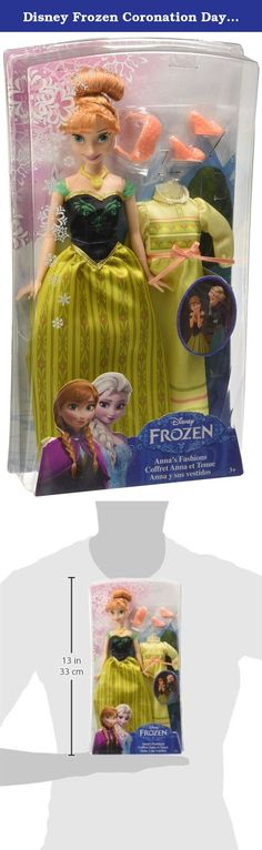 Disney Frozen Coronation Day Anna Doll. The enchanting sisters from Disney's frozen come together in this amazing fashion collection! choose from Anna or Elsa doll, each of which wears their coronation day dress from the memorable scene in the movie when Elsa is crowned the queen of Arendelle. With two different fashions, dolls can transition from coronation day festivities to bedtime slumber. Girls can swap their beautiful ball gowns with comfortable nightgowns when its time to sleep. To...