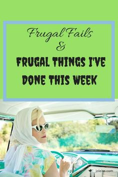 As much as I like talking about saving money, I didn't do so well this week. I did some frugal things but also had some frugal fails. Life has its ups and downs. Let your budget work for you. Living On A Budget, Family Budget, Frugal Living Tips, Frugal Tips, Money Tips, Money Saving Tips, Thing 1, Financial Tips, Fails