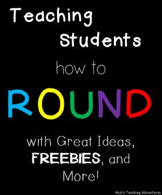 Teaching Rounding {Great Ideas, FREEBIES, and More!} because rounding is a hard concept for any student to grasp! {Great for and grade! Fourth Grade Math, Second Grade Math, Rounding 3rd Grade, Grade 3, Sixth Grade, Rounding Activities, Math Games, Math Round, Math Place Value