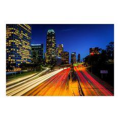 NOIR Gallery Downtown Los Angeles Skyline Metal Wall Art - ME-04-MP-08
